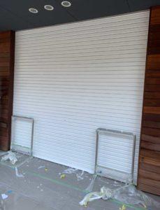 T邸店舗 シャッター施工工事の写真